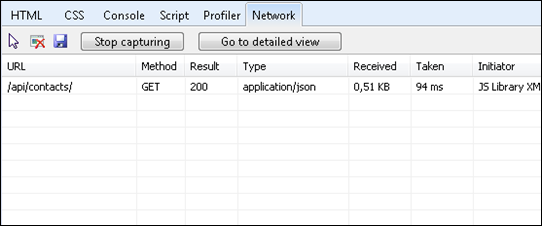 Default request to Web API