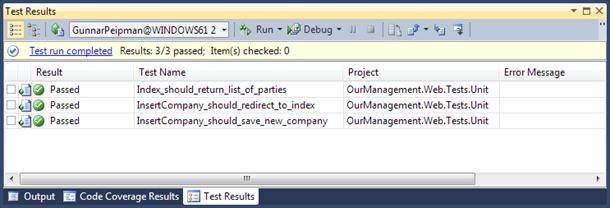 ASP.NET MVC unit tests