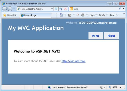 ASP.NET MVC intranet site