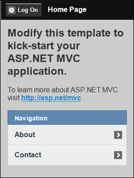 ASP.NET MVC 4: Mobile index page
