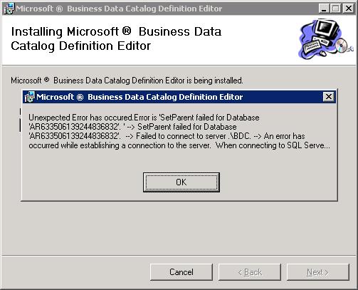 BDC Definition Editor