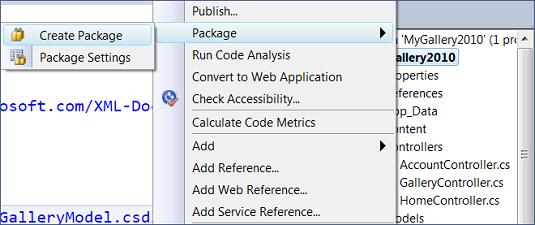Visual Studio: Create package