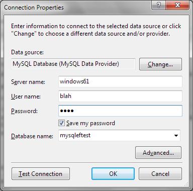 Set MySQL connection properties