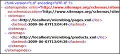 IIS SEO Toolkit: Sitemap index