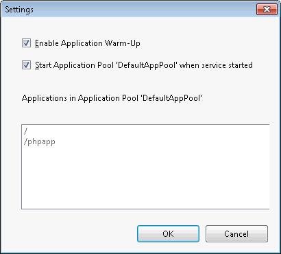 IIS Application Warm-Up settings