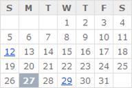 MVC calendar example