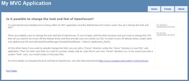 OpenForum - thread