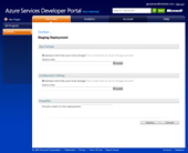 Windows Azure: Deployment form