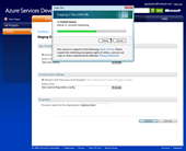 Windows Azure: Upload is in progress