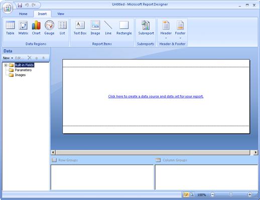 SQL Server Report Designer