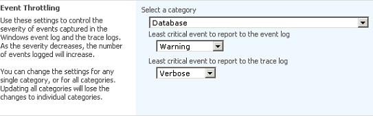 SharePoint event throttling settings