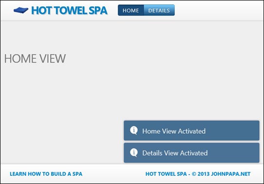 Example SPA built on Hot Towel