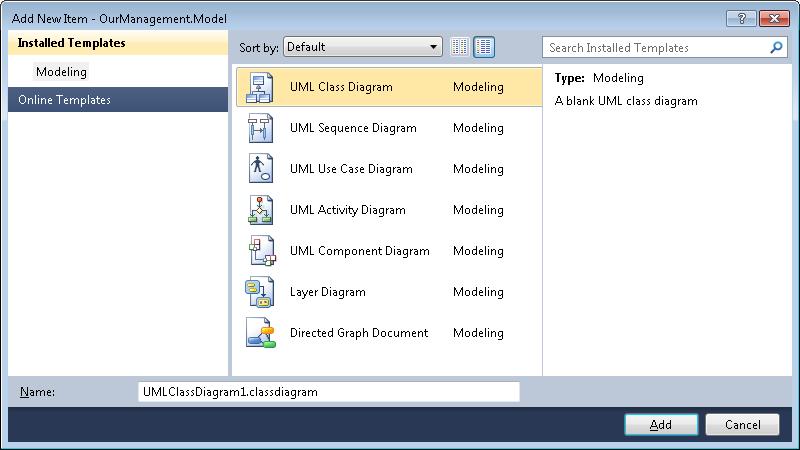 Visual studio 2010 uml modeling projects gunnar peipman visual studio 2010 new uml diagram ccuart Images