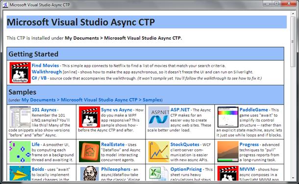 Async dashboard