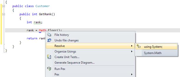 Visual Studio: Resolve reference