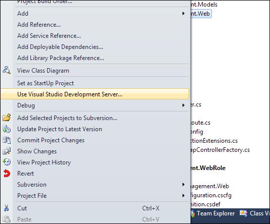 If IIS Express doesn't like then switch back to old Development Server