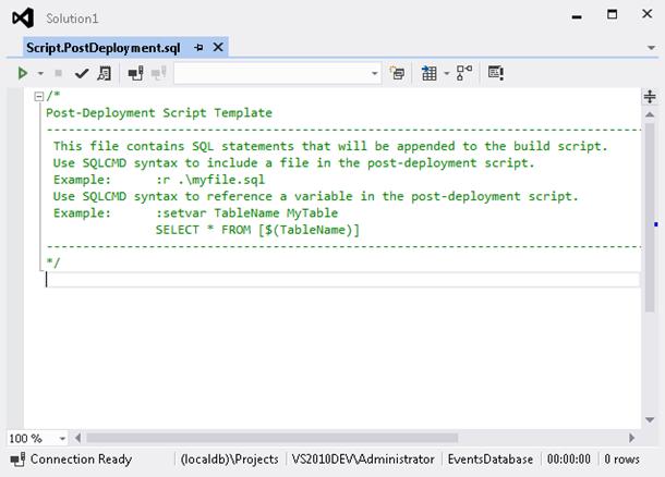 Empty post-deployment script