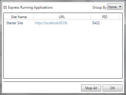 WebMatrix: IIS Express applications