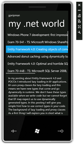 Windows Phone 7 RSS-reader