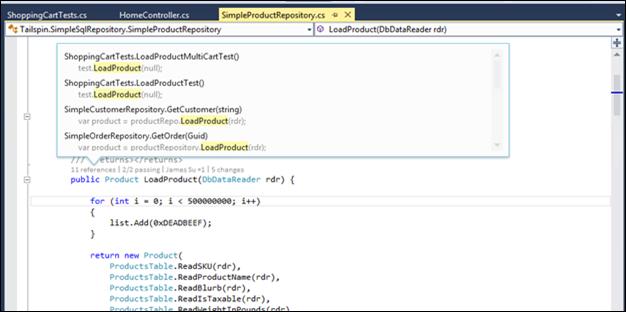 Code indicators at Visual Studio 2013