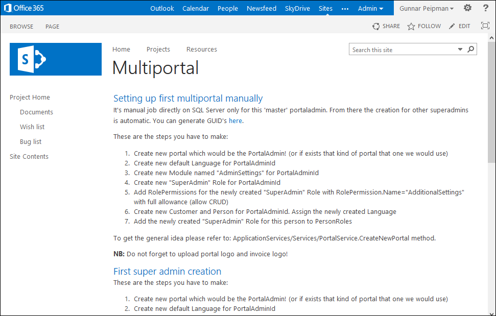 System deployment guide for multiportal version
