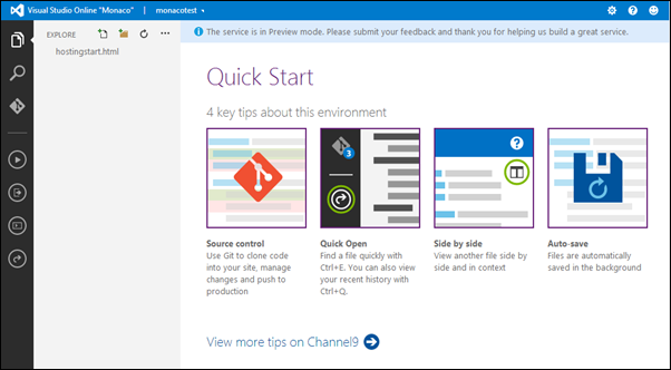 Visual Studio Online: Quick start
