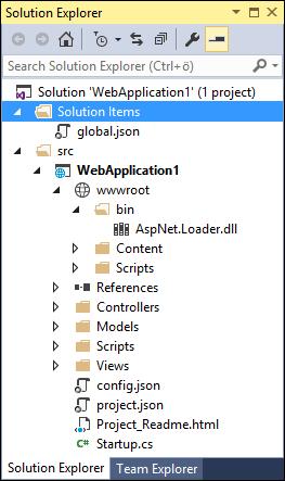ASP.NET MVC 6: Solution structure