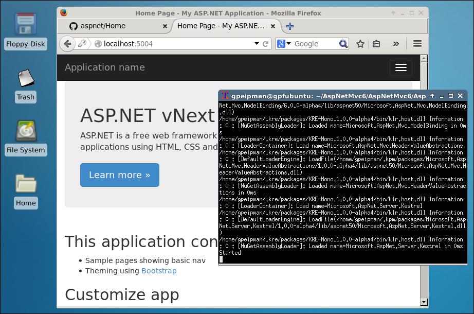 ASP.NET vNext running on Linux