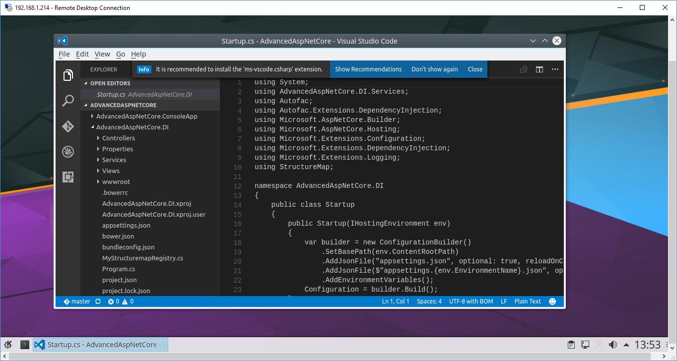 Visual Studio Code on Kubuntu