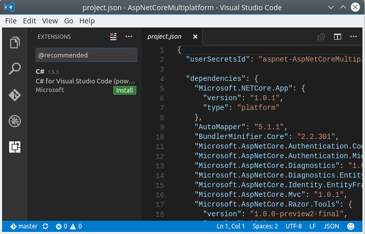Visual Studio Code: Debugging C# code