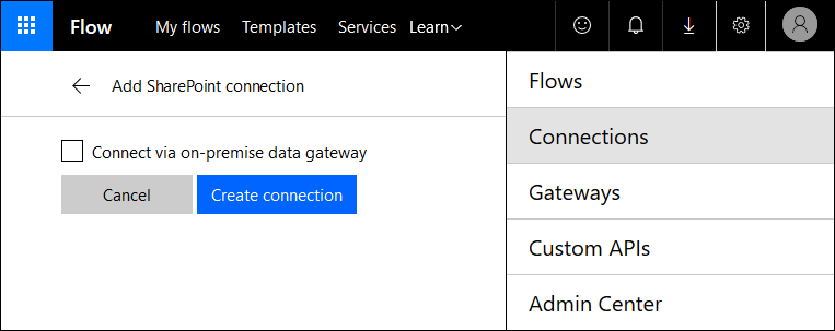 Connecting SharePoint to Microsoft Flow
