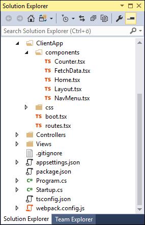 ASP.NET Core 2: ClientApp folder and webpack configuration