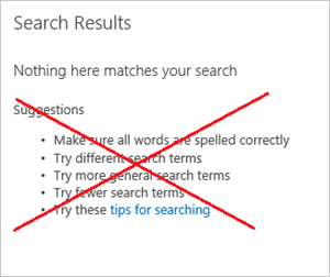 SharePoint Search Results Web Part with suggestions