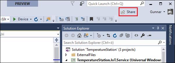 Visual Studio Live Share for collaborative coding