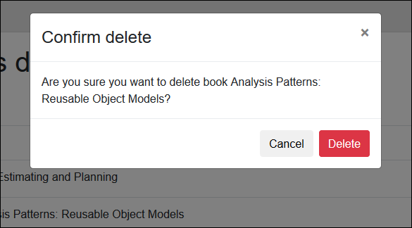 Building confirm delete dialog on Blazor