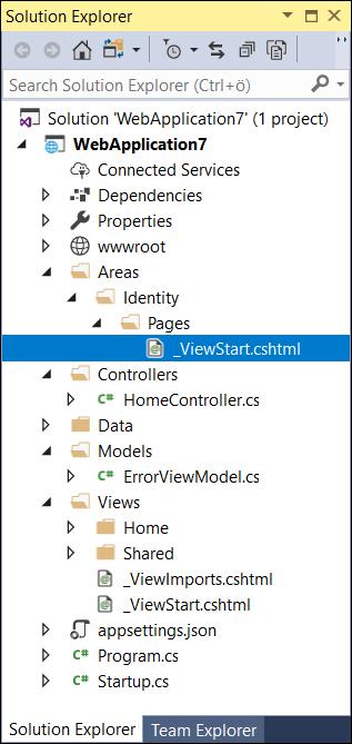 ASP NET Core Identity scaffolding