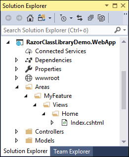 Razor Class Library with ASP NET Core MVC