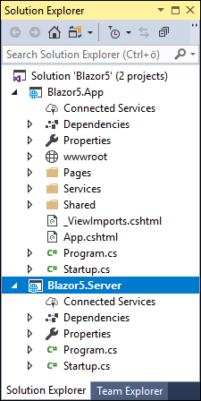 Server-side Blazor applications