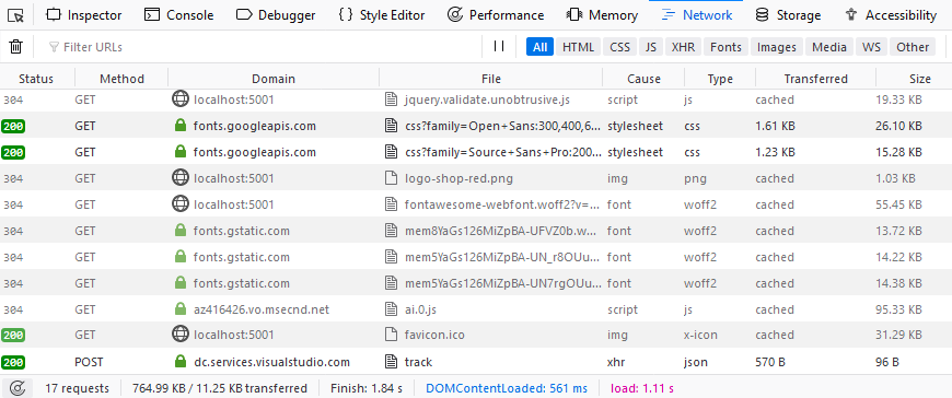 ASP NET Core response compression