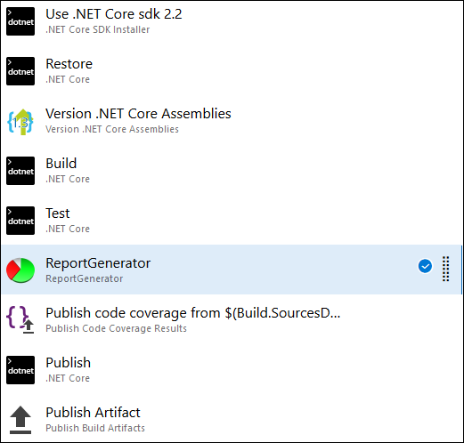 ASP NET Core code coverage reports on Azure DevOps
