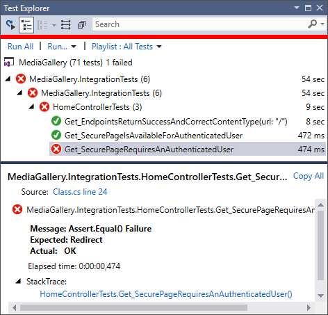 Using ASP.NET Core Identity user accounts in integration tests