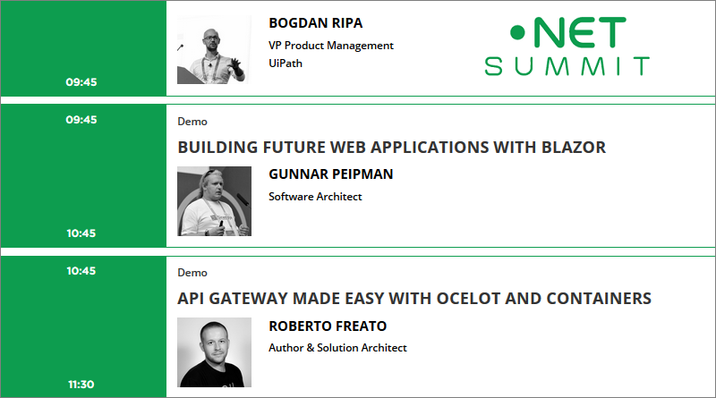 Speaking at  NET Summit Bucharest